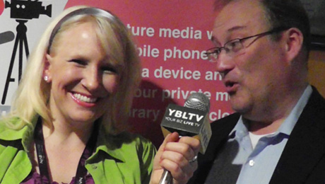 WeVideo Jostein Svendsen chats with YBLTV Anchor, Erika Blackwell at NAB.