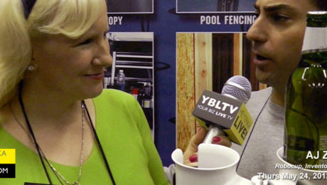 Robocup Inventor AJ Zakarian speaks with YBLTV Anchor, Erika Blackwell at the National Hardware Show, 2012 in Las Vegas, NV.