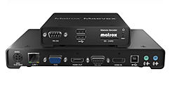 Matrox Maevex Encoder and Decode Matrox Maevex Encoder and Decoder units extend 1080p video, audio and RS-232 control signals over a standard TCP/IP network.