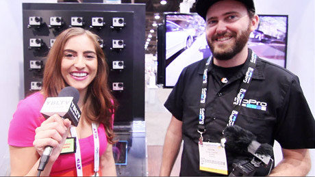 GoPro's Kevin Custer & YBLTV's Contributing Guest Reporter, Chris Salas NAB 2013