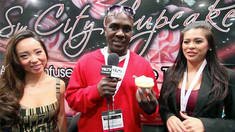 Sin City Cupcakes' Co-Owners, Lisa & Dannielle with YBLTV Contributing Guest Reporter, Randy Nelson