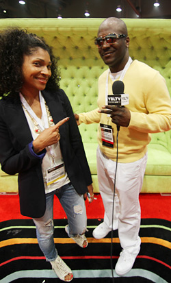 SKAM Artist Inc. Talent Manager, Toya Williams & YBLTV Contributing Guest Reporter, Randy Nelson