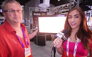 Kino Flo Lighting Sales Manager, Scott Stueckle with YBLTV Guest Reporter, Chris Salas National Association of Broadcasters 2013