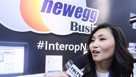 Newegg Business Marketing Manager, Sara Kim at Interop 2013 Image Courtesy: Your Biz LIVE