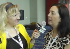 CMD's Managing Director/Earned Media, Julie Yamamoto talks with YBLTV Anchor, Erika Blackwell at BlogHer '13. (Your Biz LIVE Photo/CMD)