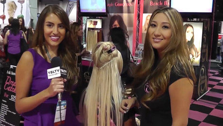 Dream Catchers Lead Educator & Stylist, Katherine Lewis with YBLTV Reporter, Chris Salas at International Beauty Show Las Vegas, 2013. (Your Biz LIVE Photo/Dream Catchers)
