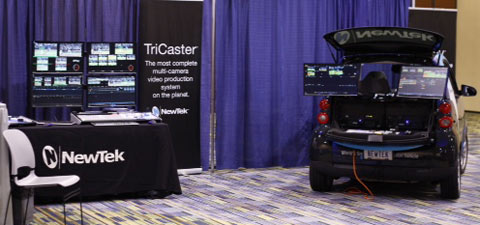 NewTek Announces Contest to Win World's Smallest HD Mobile Production Vehicle. (Image Courtesy: NewTek)