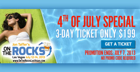 ON THE ROCKS: RED WHITE & VEGAS 4TH OF JULY TICKET SPECIAL (Image Courtesy: BWR Public Relations/On the Rocks Las Vegas)