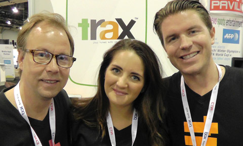 Trax Founder, Tobias Stenberg, Investor Ronja Koepke, Trax Sales & Marketing/Founder, Mikael Karlsson at CTIA 2013 (Your Biz LIVE Photo/Trax)