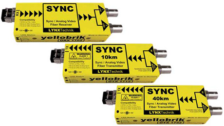 LYNX Technik Launches New Analog Sync / Video Fiber Interfaces IBC 2013