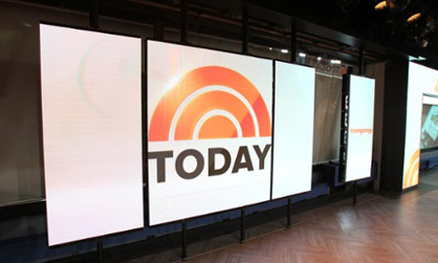 Ferri Lighting Design & Associates  designs and installs first all-LED set for revamped 'TODAY' show. (Image Courtesy: Chris Pfaff Tech/Media LLC).