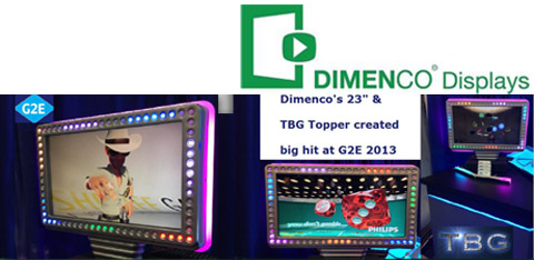 "Dimenco's 23"" & TBF Topper Created Big Hit at G2E 2013 (Image Courtesy: Dimenco Displays)."