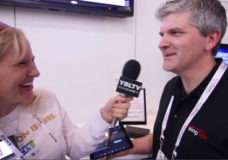 Sling Media, Inc.'s Marketing Manager, Andy Panizza talks with YBLTV Anchor, Erika Blackwell at International CES 2014. (Image Courtesy: Your Biz LIVE/Sling Media, Inc.).