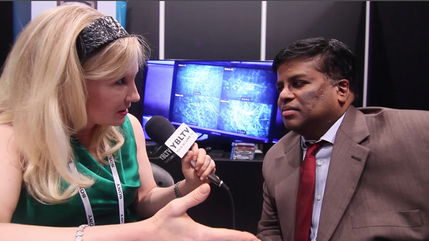 Stream TV Networks CEO, Mathu Rajan talks with YBLTV Anchor Erika Blackwell at International CES 2014. (Image Courtesy: Your Biz LIVE/Stream TV Networks).