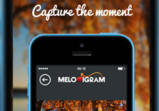 "Melodigram Offers iPhone Users Easy Sharing Across WhatsApp, Pinterest, Facebook, Twitter, SMS, and E-Mail; Free App Enables Front-Side Camera ""Selfie"" Augmentation; Melodigram Raises $1 Million USD (Image Courtesy: Melodigram/Chris Pfaff Tech/Media LLC)."