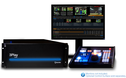 NewTek 3Play 4800 Integrated Sports Production System (Image Courtesy: NewTek).