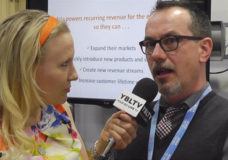 Aria Systems, Inc. Chief Architect & Co-Founder, Brendan O'Brien chats with YBLTV Anchor, Erika Blackwell at Interop 2014. (Image Courtesy: Aria Systems, Inc./Your Biz LIVE).