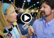 DMTF President, Jeff Hilland chats with YBLTV Anchor Erika Blackwell at Interop 2014. (Image Courtesy: DMTF/Your Biz LIVE).