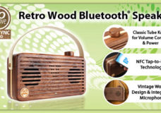 Accessory Power Turns Back Time with the GOgroove® BlueSYNC® WUD Real Wood Portable Bluetooth Speaker with NFC and Classic Knob Controls (Image Courtesy: AP Global Inc.).
