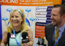 Intuitive Technology Founder & CEO, Chris Jones chats with YBLTV Anchor, Erika Blackwell at this year's Interop, Las Vegas, NV. (Image Courtesy: Intuitive Technology/Your Biz LIVE).