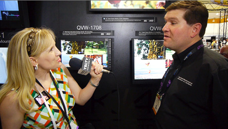 YBLTV Anchor chats with Marshall Electronics' Director of Sales expert, Broadcast AV Division, Devan Cress at the 2014 NAB Show, Las Vegas, NV. (Image Courtesy: Marshall Electronics/Your Biz LIVE).