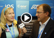 SecureAuth Corporation's CTO/COO, Garret Grajek talks two factor authentication and single sign on at Interop 2014 (Image Courtesy: SecureAuth/Your Biz LIVE).