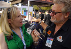 YBLTV Anchor, Erika Blackwell meets Galaxy Outdoor, LLC, President, Bruce Spangrud at National Hardware Show, 2014. (Image Courtesy: Galaxy Outdoor, LLC/Your Biz LIVE).