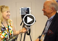picoPrompt Inventor, Chris Lambert chats with YBLTV Anchor, Erika Blackwell at NAB 2014.