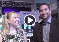 YBLTV Anchor, Erika Blackwell chats with Christie Digital Systems USA, Inc., Sr. Solutions Architect, Nicholas J. Fazio at InfoComm 2014. (Image Courtesy: Christie Digital Systems USA, Inc. / Your Biz LIVE).