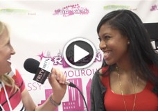 YBLTV Anchor, Erika Blackwell speaks with Tanille, Brand Creator & Singer/Songwriter at Licensing Expo 2014 (Image Courtesy: Fire Flies Entertainment / Your Biz LIVE).