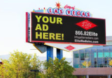 "Elite Media Inc., in Las Vegas, Nevada, has completed construction on a brand new network of Parquee(R) outdoor digital signs. The signs are centrally-located on city property with extensive freeway and street visibility. In the pilot phase of this unique collaboration, four 14'x48' digital signs have been positioned along US95/I-515, a major Las Vegas freeway. The other five 7'9""x18'2"" digital signs are located in the heart of Las Vegas along high-traffic surface streets. Both local and national advertising as well as City messaging will be displayed on this network. Visit elitemediainc.com for more information. (PRNewsFoto/Elite Media, Inc.)"