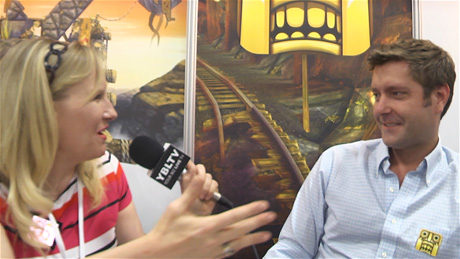 Imangi Studios' Walter Devins talks Temple Run with YBLTV Anchor, Erika Blackwell at Licensing Expo 2014. (Image Courtesy: Imangi Studios / Your Biz LIVE).
