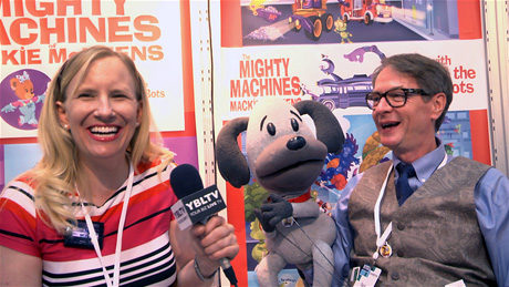 Tails of Whimsy, Artist, Daryl Slaton chats with YBLTV Anchor, Erika Blackwell at Licensing Expo 2014. (Image Courtesy: Tails of Whimsy / Your Biz LIVE).