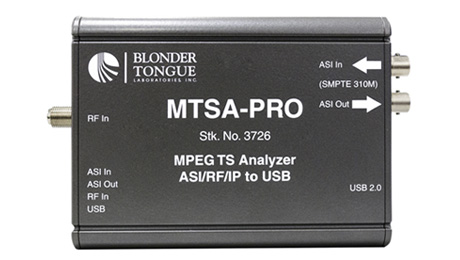 Blonder Tongue Enhances Test & Measurement Portfolio With New MTSA-PRO and BTPRO-7000S Analyzers.