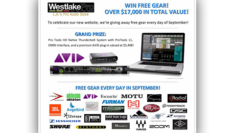 Win a Pro Tools Rig from Westlake Pro - Final Week of Westlake Pro's 30 Days of Giveaways.