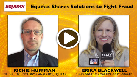 Equifax Senior Director, Technology & Analytics, Richie Huffman chats with YBLTV Anchor, Erika Blackwell during CTIA Super Mobility Week 2014.