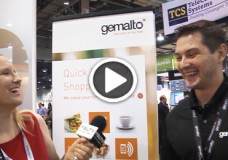 Gemalto Technical Project Leader, Jan Siba chats Personal Quick Shopper with YBLTV Anchor, Erika Blackwell at CTIA SMW 2014.