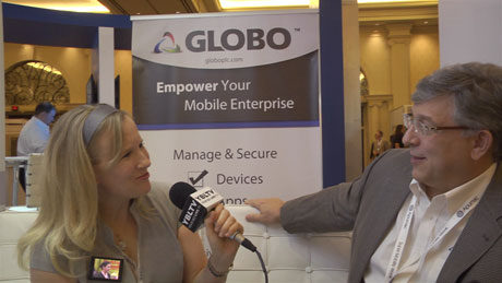 Globo plc, VP of Innovation & Technology, Paul DePond chats with YBLTV Anchor, Erika Blackwell at CTIA SMW 2014.