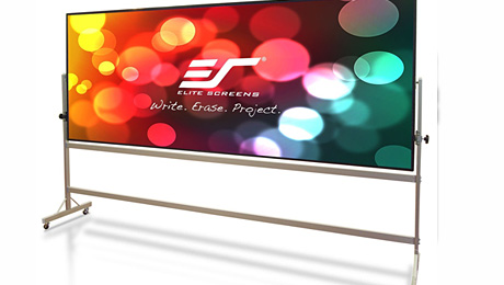 New Free-Standing Whiteboard-Projection Screen from Elite