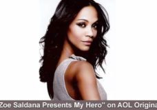 "Tune in October 24th for the Premiere of ""Zoe Saldana Presents My Hero"" on AOL Originals"