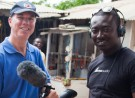 The Skid Row Marathon crew filming on location in Ghana, West Africa.