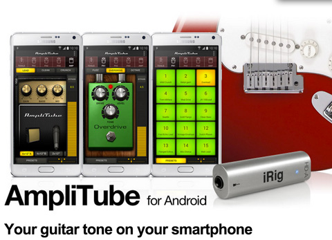 AmpliTube music app and iRig HD-A interface for Android devices