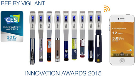 "Vigilant Switzerland Wins the 2015 CES Innovation Biotech Award Honoree For Its Smart Diabetes Tracker ""Bee"""
