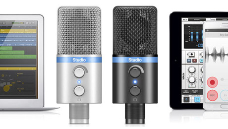 IK Multimedia Announces iRig Mic Studio, the Ultra-Portable Large-Diaphragm Digital Microphone for Every Platform