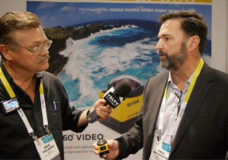 Paul Meyhoefer, Vice President of JK Imaging Ltd. demos the Kodak PIXPRO SP360 Action Cam to YBLTV Writer/Reporter, Erik Valainis at the 2015 International CES Show.