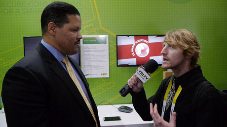 NXP Semiconductors' Jeff Fonseca, Global Marketing & Business Development Director Talks NFC, IoT & Security with YBLTV Anchor, Eric Sheffield at 2015 International CES.