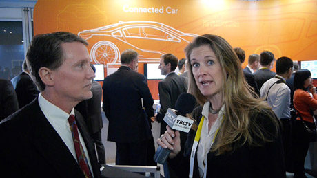 NXP Semiconductors' SVP and GM of Automotive, Drue Freeman chats the Connected Car with YBLTV Anchor, Brandy Falconer at the 2015 International CES.