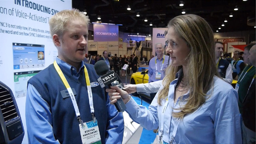 Ford App Link Systems Supervisor, Stefan Bankowski chats with YBLTV Anchor, Brandy Falconer at 2015 International CES.