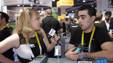 HyprKey CEO, George Avetisov chats HYPR-3 Biometric Payment Gateway with YBLTV Anchor, Erika Blackwell at 2015 International CES.