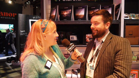 YBLTV Anchor, Erika Blackwell meets Polaroid Blipfoto Founder & CEO, Joe Tree at 2015 International CES.